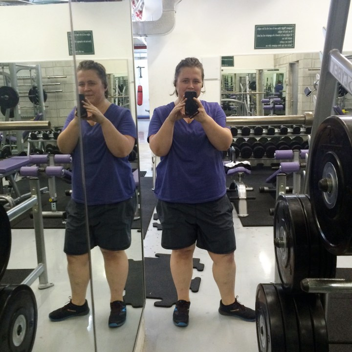 Photo of a Fat CrossFitter getting her lift on