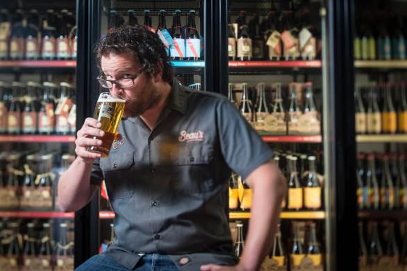 Steve Beauchesne sipping Kissmeyer