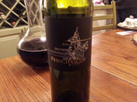 2006 Brunello Di Mantacino Principesco bottle