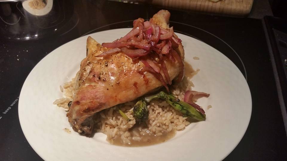 Date Night Dinner & Wine #1: Chicken, Rapini and Pinot Grigio