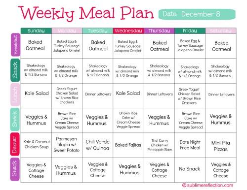 Clean Eating Meal Plan...
