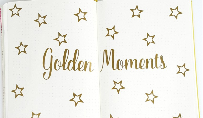 """Tracking """"Golden Moments"""" in your Bullet Journal"""