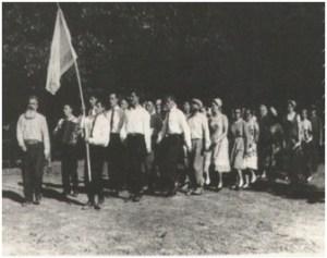 Израильский флаг в шестидесятых годах на Кавказе