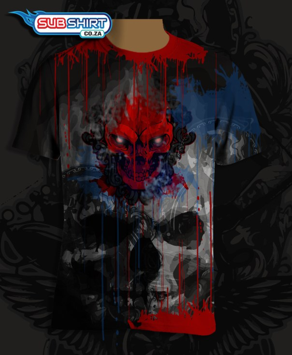 blood-dripping-skull-biker-shirt-all-over-print-sublimated,paintball skull shirt