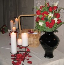 Table arrangement with printed programs