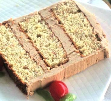 Coffee Slice Cake serving