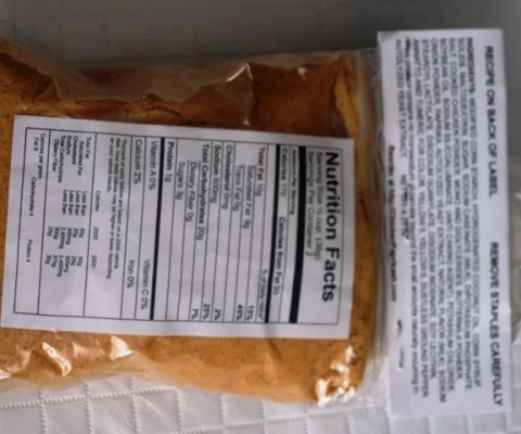 Chicken Paprikash Seasoning  -Nutrition Facts