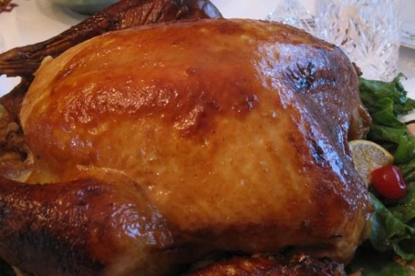 Roasted turkey ready to serve