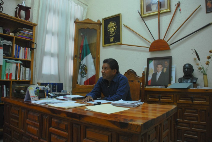 Jesús Hernández Cruz, presidente municipal de Guelatao. Fotografía: Santiago Navarro