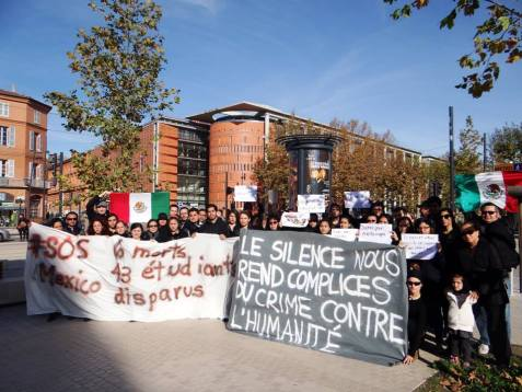 Toulouse, Francia. Foto: Todo somos Ayotzi en Toulouse