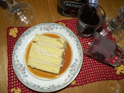 Peach Chiffon Cake