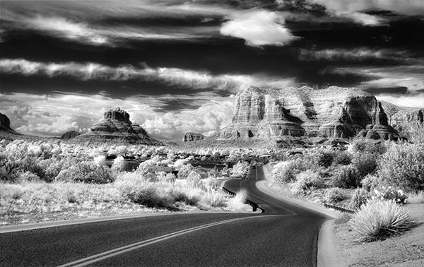 infrared black & white image