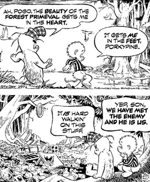 pogo comic strip. enemy is us