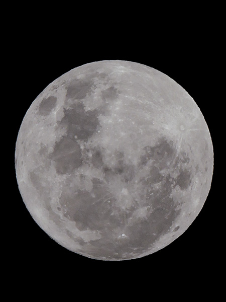 digital zoom moon