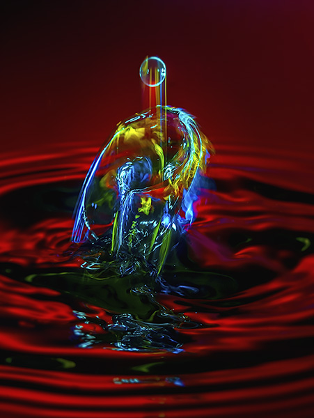 water drop photography image