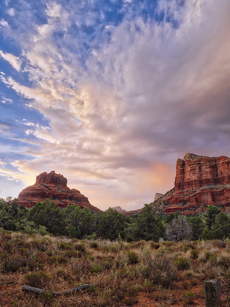 courthouse butte with bell rock photo sedona arizona