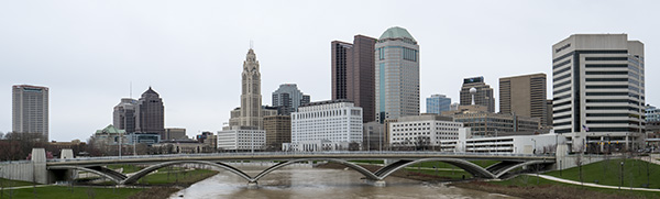 columbus ohio skyline photo. bob coates photography