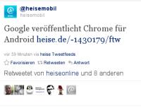 Google veröffentlicht Chrome für Android