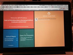 Dashboard-Leak for the next @PHPUGDus meetup on thursday #Git #Workshop