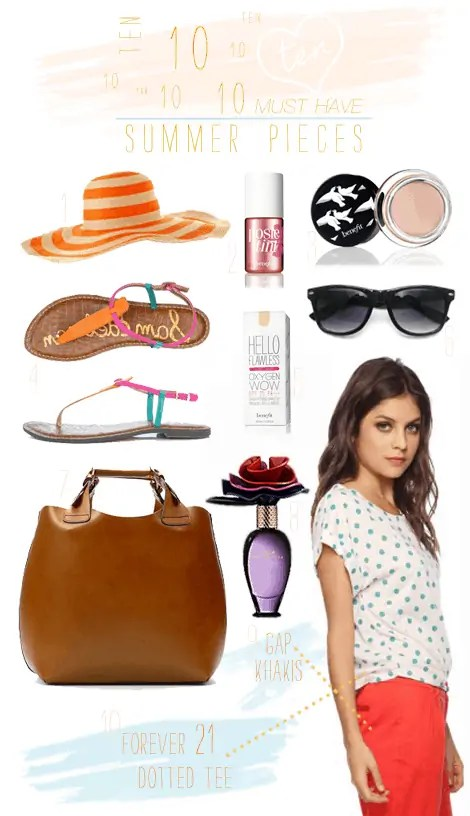 10 must have summer items 2012