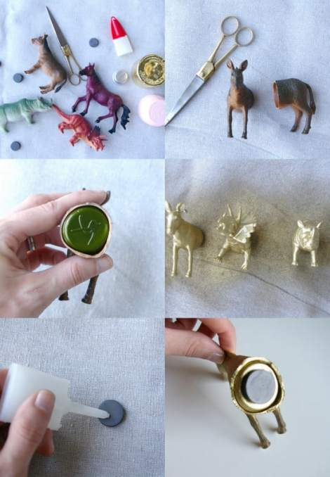 DIY plastic animal magnet