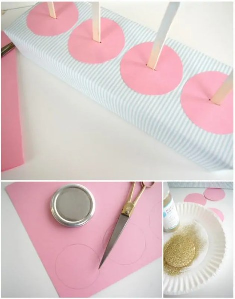 DIY popsicle drip catchers
