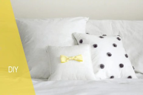 simple bow pillow