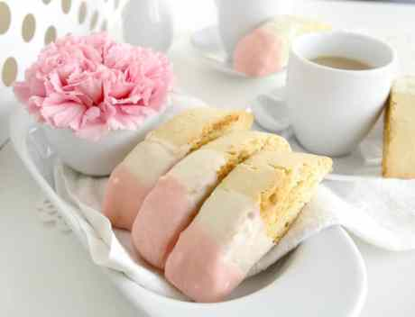biscotti recipe white chocolate dipped and pink