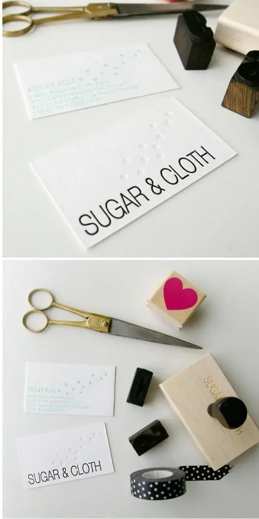 sugar and cloth personal business card design