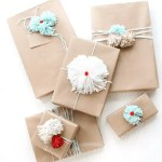 DIY Pom Pom Gift Wrap Ideas