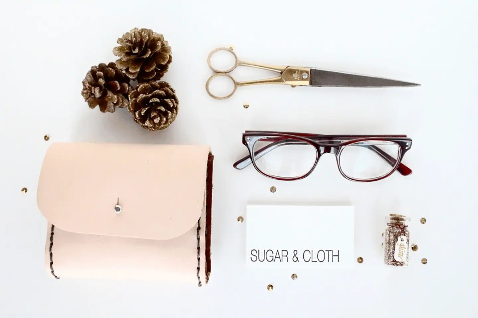 DIY leather pouch