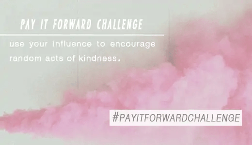 pay it forward challenged: Be featured on Sugar & Cloth