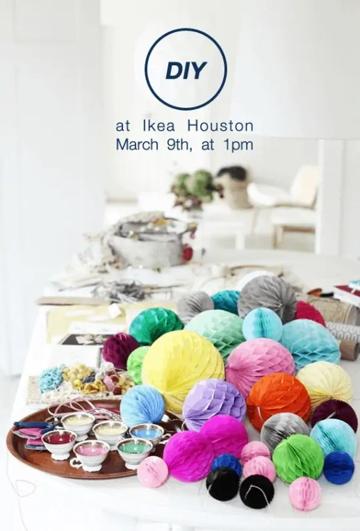 DIY event at Ikea Houston with Sugar & Cloth