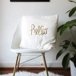 DIY Sequined Hello Pillow (and Ikea event recap!)