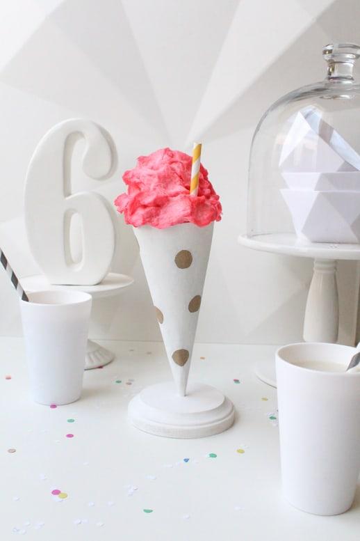 DIY Polka Dot Treat Cones (Trade & Made Challenge) - Sugar & Cloth - Houston Blogger