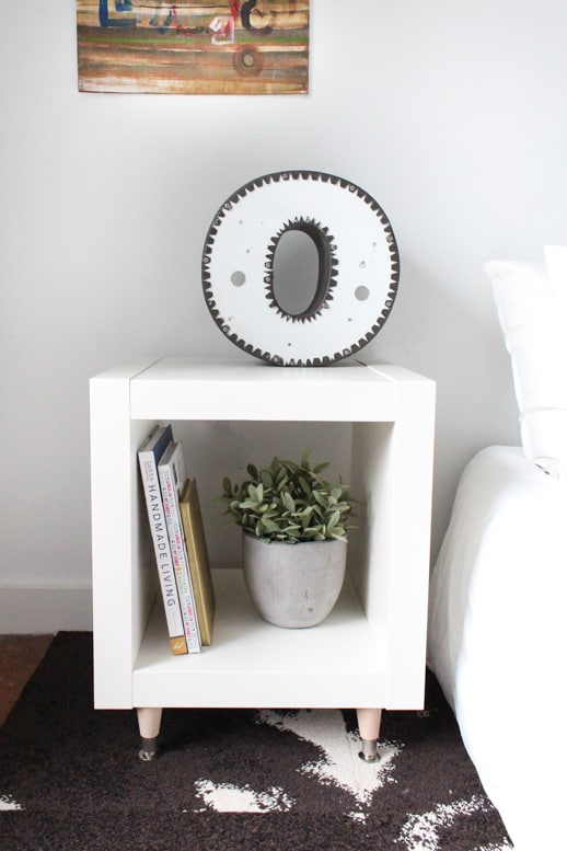 DIY ikea hack side table by Sugar & Cloth