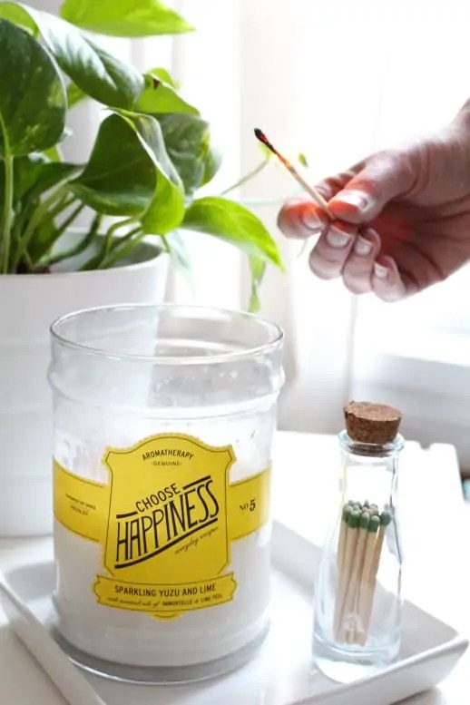 DIY striking matchstick holder by Sugar & Cloth