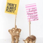 DIY Animal Memo Holder Gifts