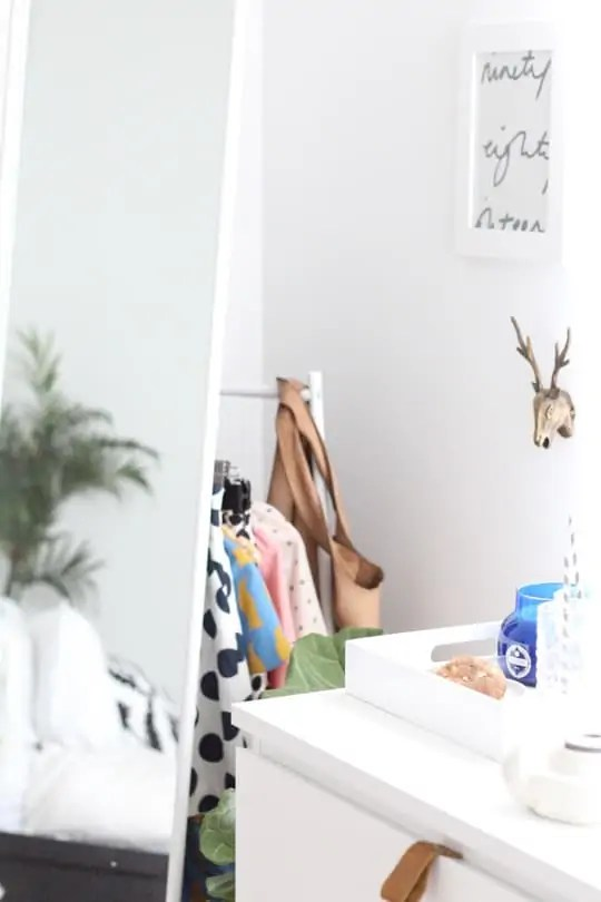 DIY Ikea hack dresser and ikea clothing mirror