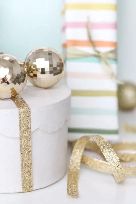 DIY Monogrammed Ornament Gift Tags - Sugar & Cloth - Holidays - Houston Blogger