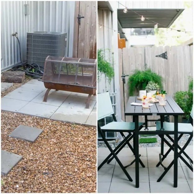 DIY before and after backyard makeover | sugarandcloth.com