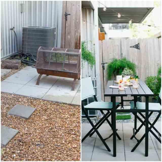 DIY before and after backyard makeover | sugarandcloth.com