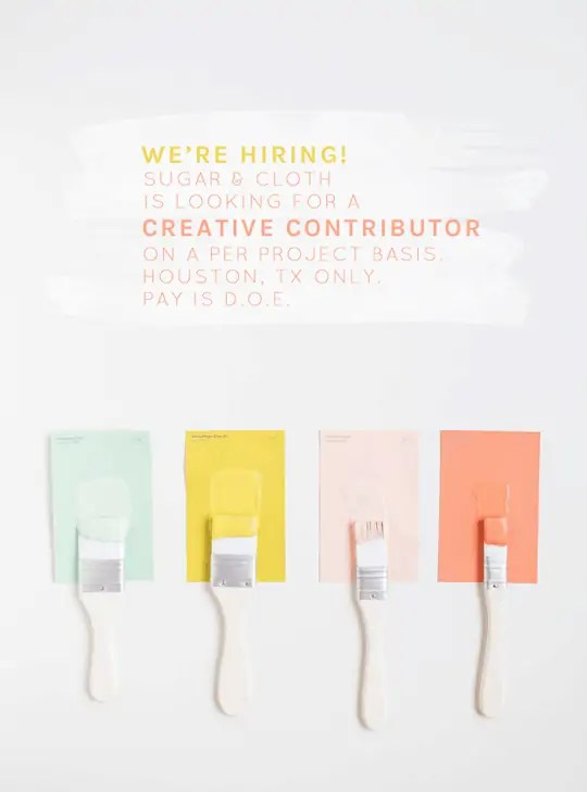 we're hiring a creative contributor- Houston blogger- Ashley Rose