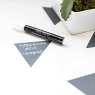 DIY geometric chalkboard notes desktop   sugarandcloth.com