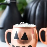 DIY Halloween glassware decals