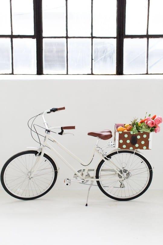 DIY polka dot bicycle basket! | sugar & cloth