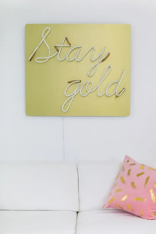 stay gold neon light #sugarandclothstudio