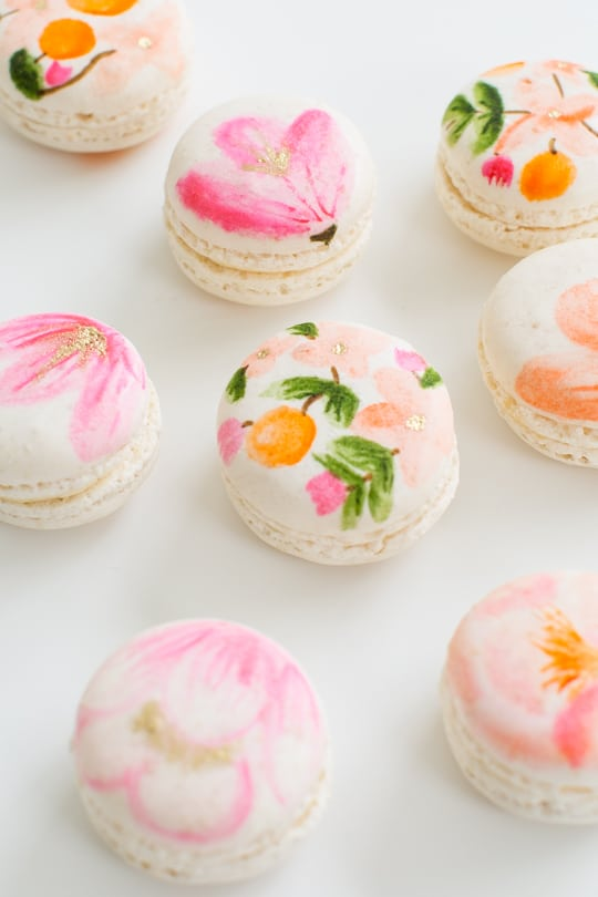 Colorful Macarons Food Photography Desserts DIY Floral Macaron Flowers Edible Decorations