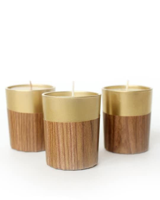 DIY retro faux wood candle | sugar & cloth