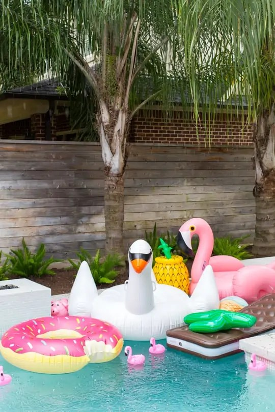 all of the coolest pools floats! behind the scenes sugar & cloth